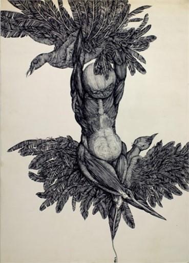 Works on paper, Jamal Bakhshpour, Bird's Nest, 1973, 6853