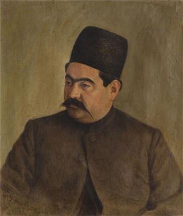 , Mohammad Ghaffari, Portrait of Fakhr-Ol-Molk Ardalan, 1909, 8635