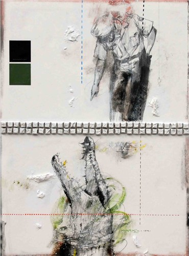 Painting, Mostafa Darebaghi, Snapshot, 2011, 7402