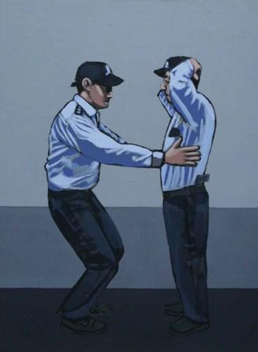 , Ihsan Oturmak, Police Frisking Each Other, 2018, 49615