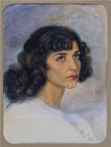 Works on paper, Jafar Petgar, Portrait of Irandokht, 1944, 6916