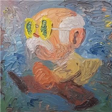 Painting, Milad Mousavi, Old artist portrait, 2020, 29908