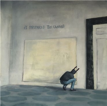 Painting, Sina Ghadaksaz, Cy Prepares the Canvas, 2019, 29799