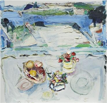 , Manoucher Yektai, Still Life in Landscape, 1983, 19085