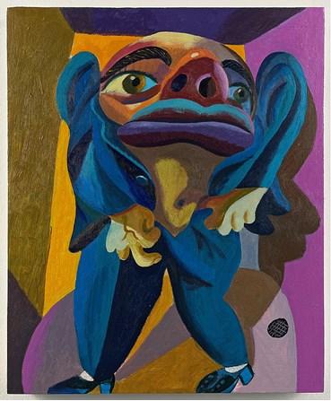 Painting, Morteza Khakshoor, Lapis Lazuli Suit, 2020, 40446