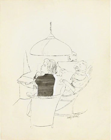 , Andy Warhol, Ohne Titel (Three Figures Seated at a Round Table), 1958, 49373