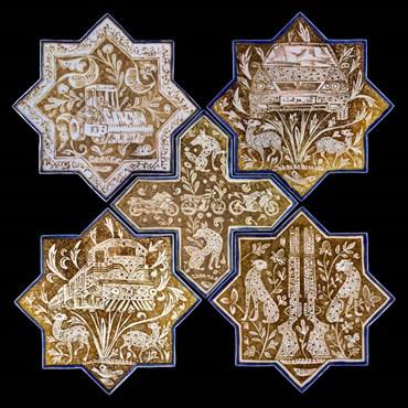 Abbas Akbari, Panel of Five Tiles , 2019, 0