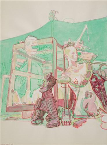 ", Sourena Zamani, Study for ""Bound and Gaged"" No.2, 2020, 37750"