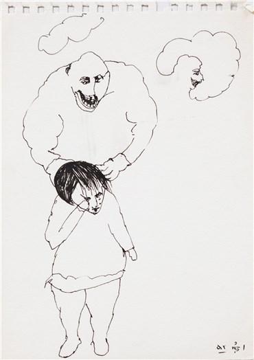 , Alireza Espahbod, Untitled, 1973, 22092