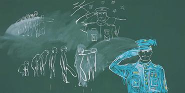 , Tala Madani, Blackboard (Vertical Gestures), 2021, 46921