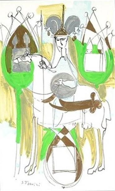 Painting, Sadegh Tabrizi, Rider, , 21641