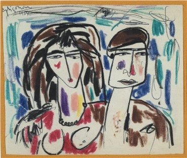 Painting, Marcos Grigorian, Portrait of a Woman and a Man, 1954, 36650