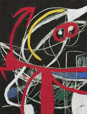 , Joan Miro, Femme, Oiseaux, 1976, 49429