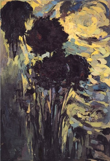 , Mansoureh Hosseini, Black Chrysanthemums, 1986, 6622