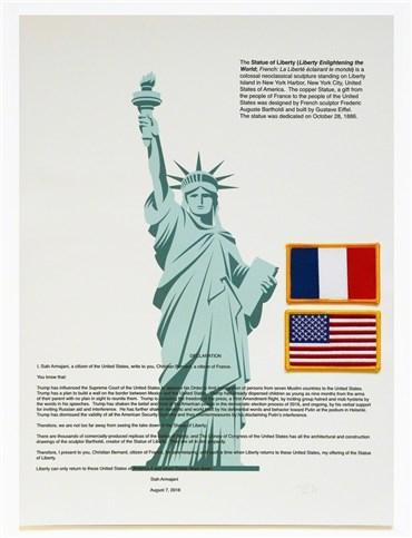 , Siah Armajani, Statue of Liberty, 2018, 21019