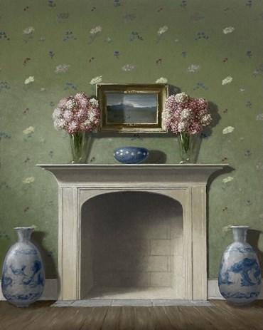 , Quentin James McCaffrey, Mantel with Bouquets and Landscape, 2021, 49199