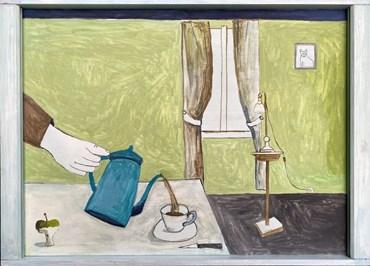 , Noel McKenna, Turquoise Coffee Pot, 2021, 48069