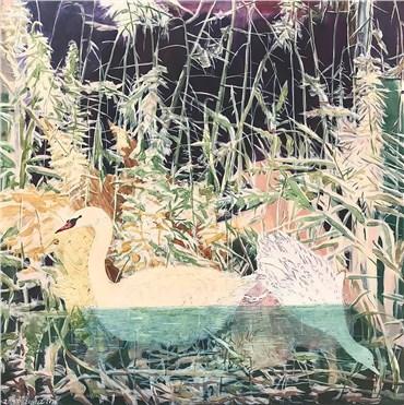 , Zahra Zonouz, Swan and her cygnet, 2020, 27597