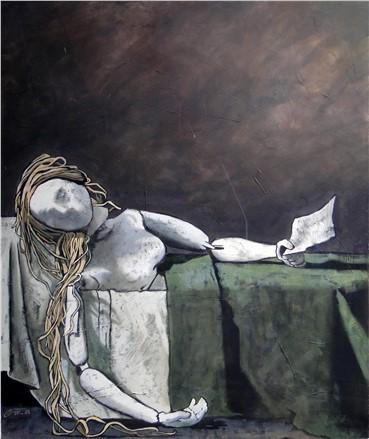 , Marjan Nemati, Death of Marat, 2011, 1278