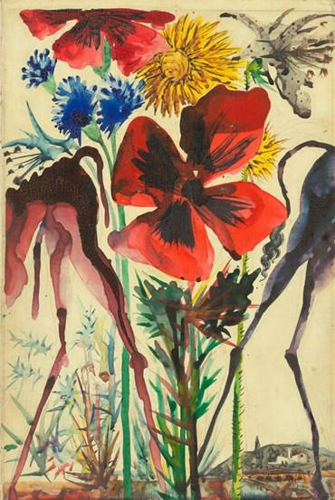 , Salvador Dali, Pinona et Liviana, les ânesses du meunier et de la meunière, ca, 1953, 49151