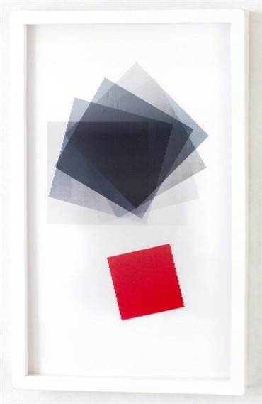 , Babak Golkar, Black Squared Red Square, 2018, 18098