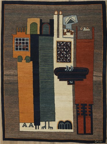 Painting, Parviz Tanavoli, Disciples of Sheikh San'an, 1975, 21528