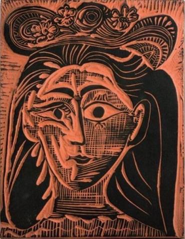 , Pablo Picasso, Femme au chapeau fleuri (A.R.521), 1964, 49150