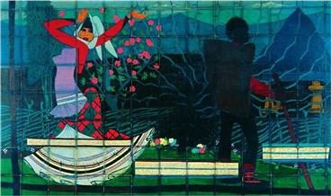 Painting, Jalil Ziapour, Kalamir and Golbahar, 1955, 6877