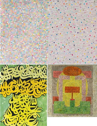 Charles Hossein Zenderoudi: About, Artworks and shows