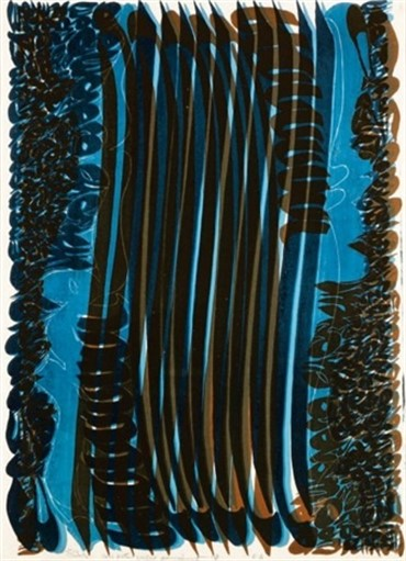 , Charles Hossein Zenderoudi, Composition, 1976, 5142