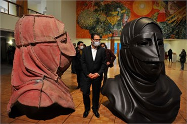 The 8th biennale of sculpture in Tehran has started