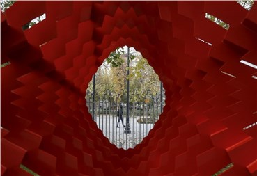 You can visit Tehran's National sculpture Biennale in Vahdat Hall